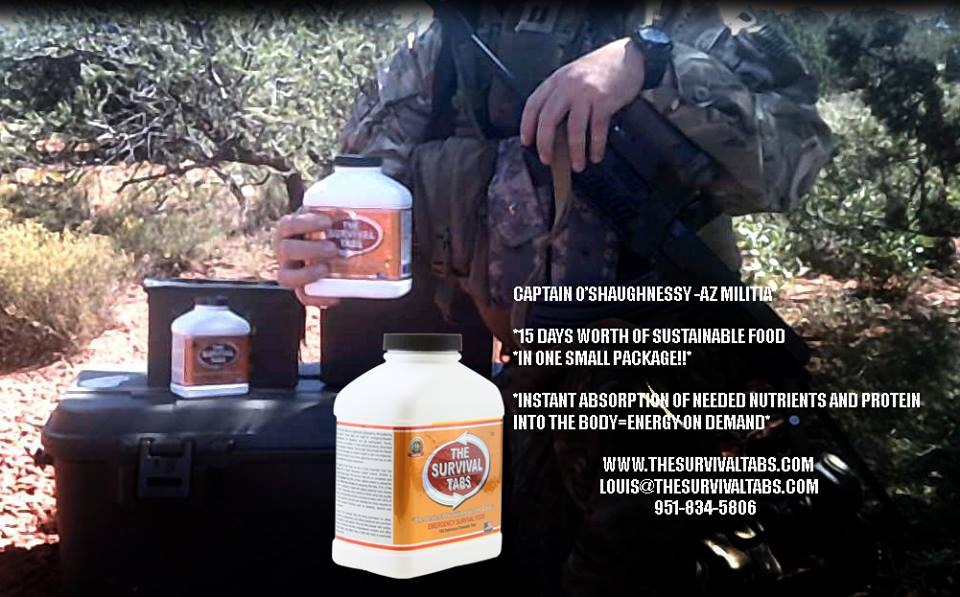 CAPTAIN O'SHAUGHNESSY – ARIZONA MILITIA – The Survival Tabs – Emergency Food Replacement
